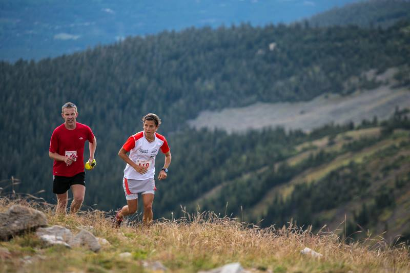 Stevie Kremer & Mike Oliva at the Breck Crest Marathon