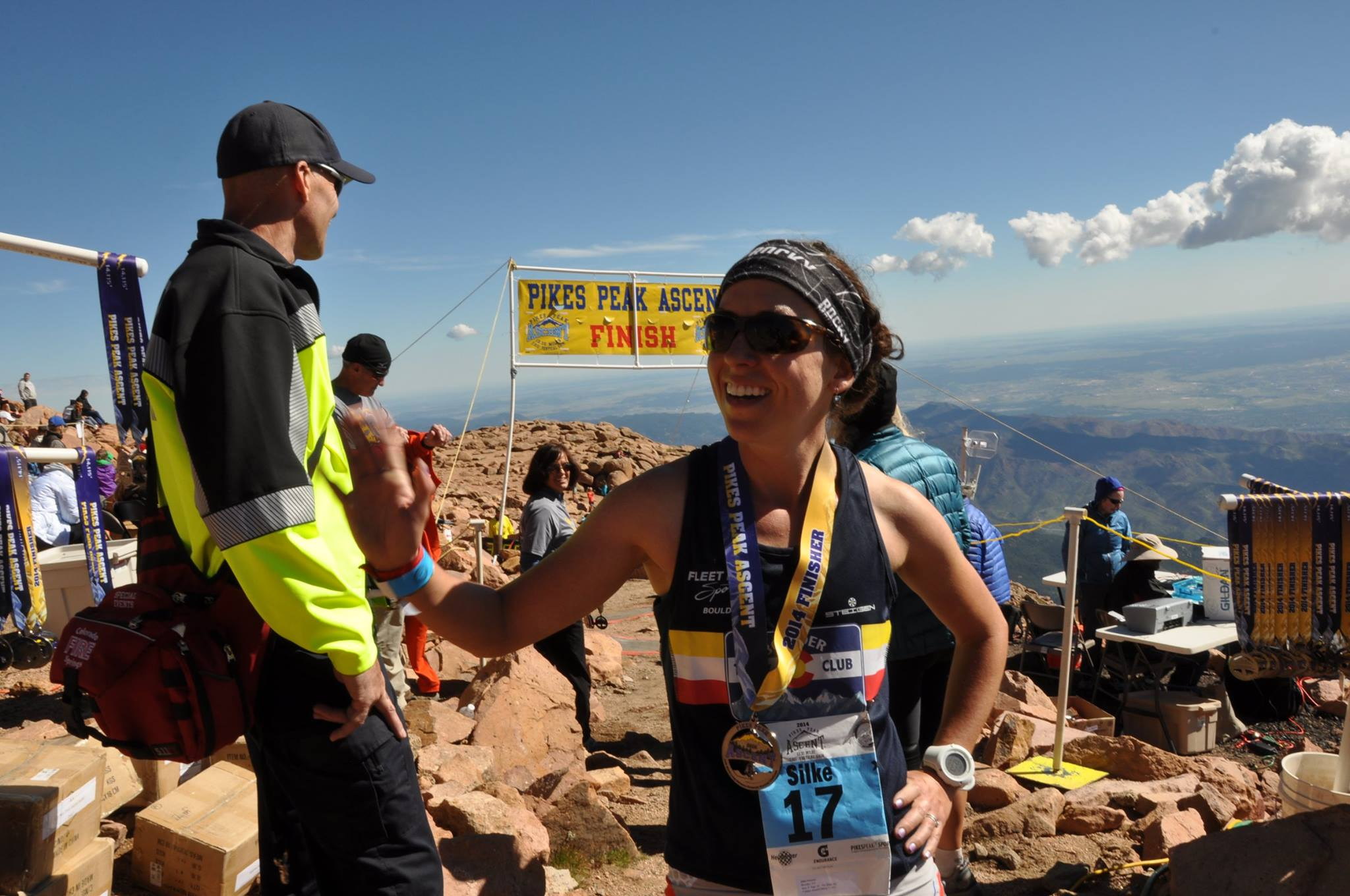 Silke Pikes Peak Ascent finish