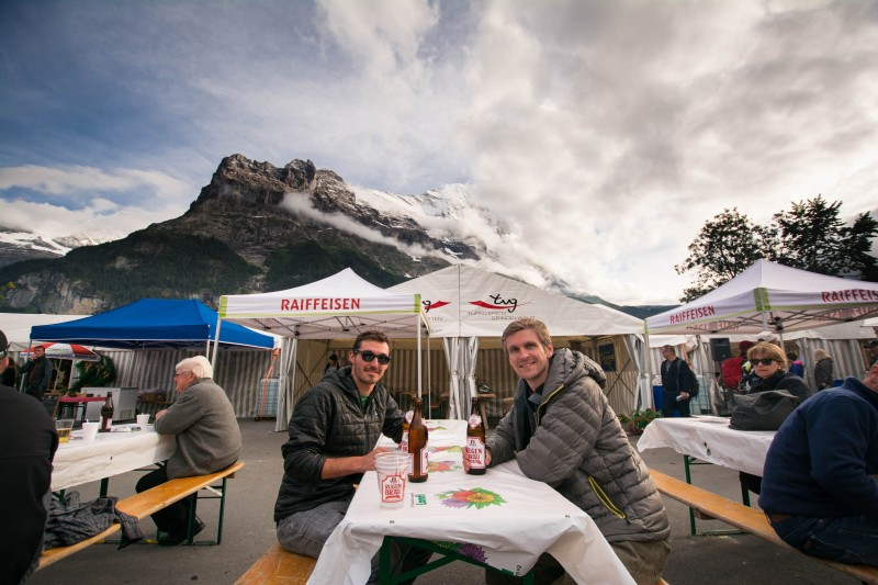 Beers beneath the Eiger!